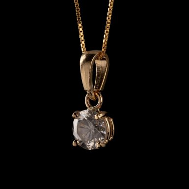 .91 Carat 14K Diamond Pendant