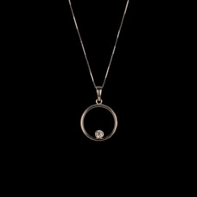 Diamond Circle of Love Pendant