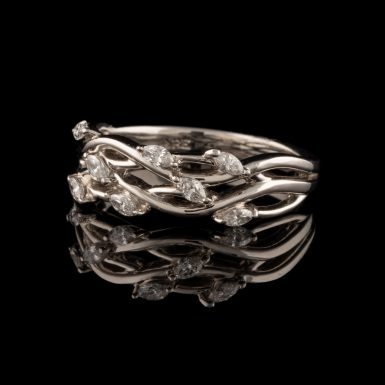 Pre-Owned Platinum and Diamond Vine Band