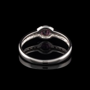 14K Oval Ruby Ring with Diamonds