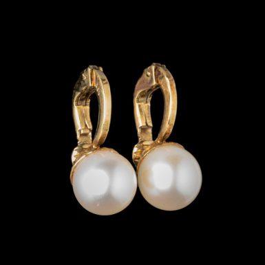 Vintage 14k Cultured Pearl Earrings