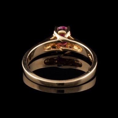 14K Oval Ruby Ring