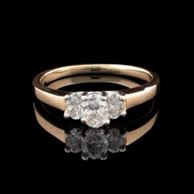 Pre-Owned 14K with Platinum 3 - Diamond Engagement Ring
