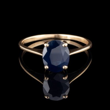 Pre-Owned 14K Sapphire Solitaire Ring