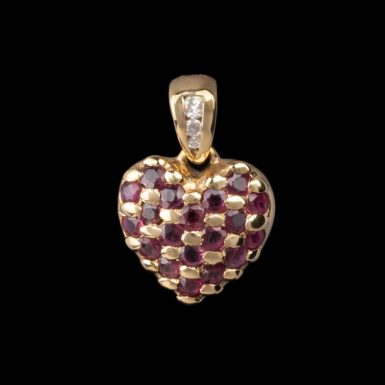 Pre-Owned Ruby Heart Pendant