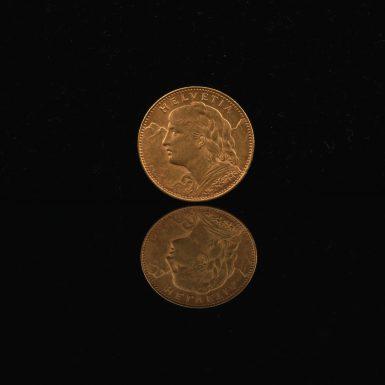 1913 Gold Swiss Franc
