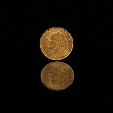 1922 Gold Swiss Franc