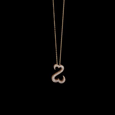 Pre-Owned 14K Double Heart Diamond Necklace