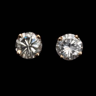 Pre-Owned .65 Carat Total Weight Diamond Studs