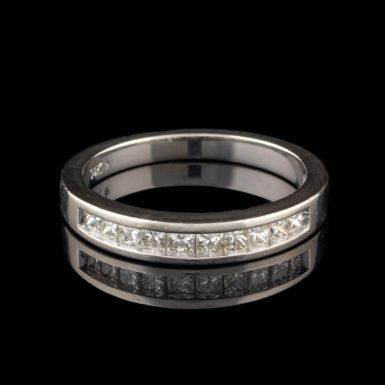 Pre-Owned 14K Princess Cut Diamond Band