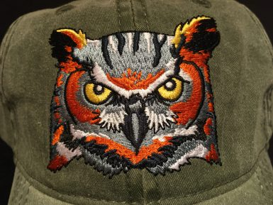 Great Horned Owl Embroidered Hat