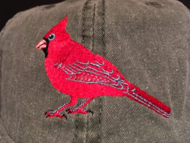 Cardinal Embroidered Hat