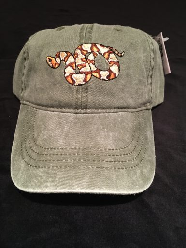 Copperhead Snake Embroidered Hat