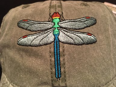 Embroidered Dragonfly Hat