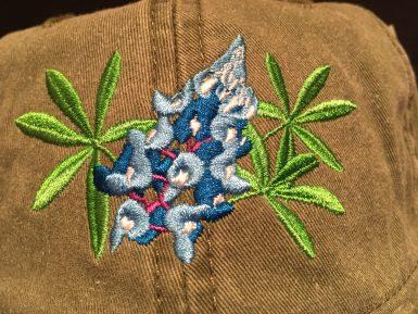 Bluebonnet Flower Embroidered Hat