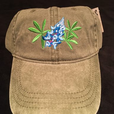 Bluebonnet Flower Embroidered Hat