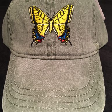 Swallowtail Butterfly Embroidered Hat