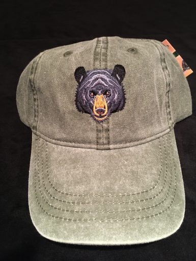 Black Bear Embroidered Hat