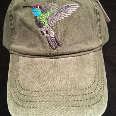 Magnificent Hummingbird Embroidered Hat