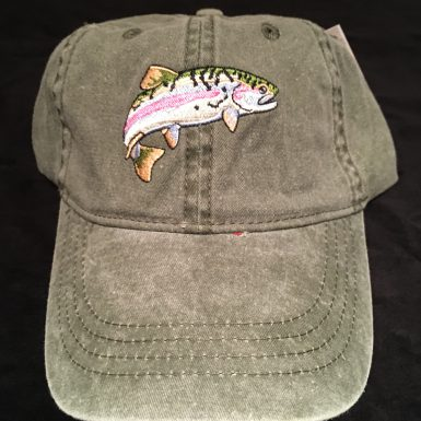 Rainbow Trout Embroidered Hat