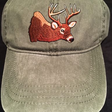 White Tail Deer Embroidered Hat