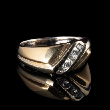 Pre-Owned 14K Two Tone Diamond Ring