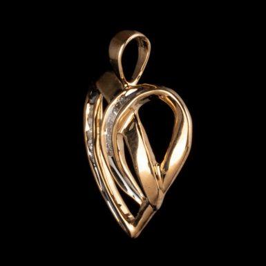 Pre-Owned 10K Diamond Heart Pendant