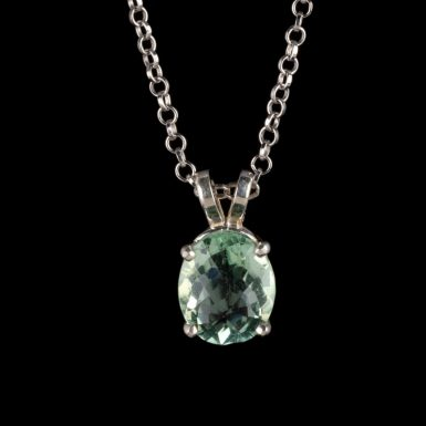 """Sterling Silver Flourite Pendant on 20"""" Chain"""