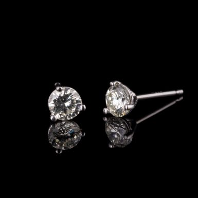 Martini Set 14K Diamond Stud Earrings