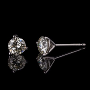 Diamond Stud Earrings14K White Gold .72 Total Carat