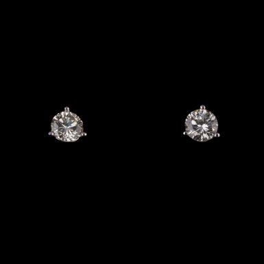 Diamond Stud Earrings14K White Gold .72 Total Carat