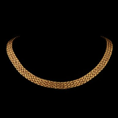 Vintage Tiffany & Co Mid-Century 14K Woven Collar