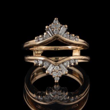 Pre-Owned 14K VS Diamond Insert Ring