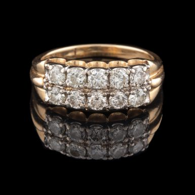 Pre-Owned 14K Double Row VS Diamond Band