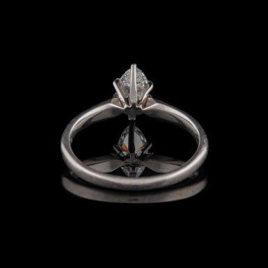 Pre-Owned Platinum .47 Carat Marquise Diamond Ring