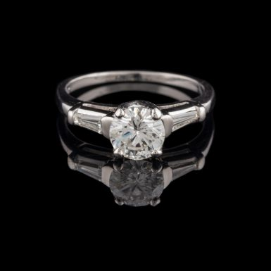 Platinum Ring with 1.04 Carat Center Diamond