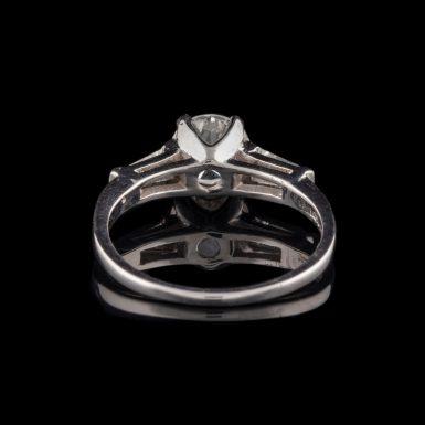 Platinum Ring with 1.04 Carat Center Diamond