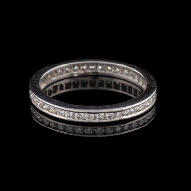 Vintage 14K Diamond Eternity Band