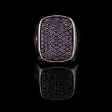Pre-Owned David Yurman Sterling Silver Color Change Garnet Ring