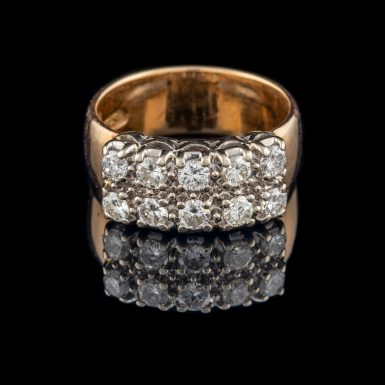 Pre-Owned 14K Double Row Diamond Band