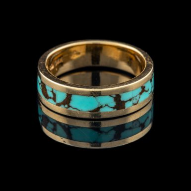 Pre-Owned 14K Inlaid Turquoise Band