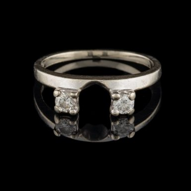 Pre-Owned 14K Diamond Wrap Style Ring