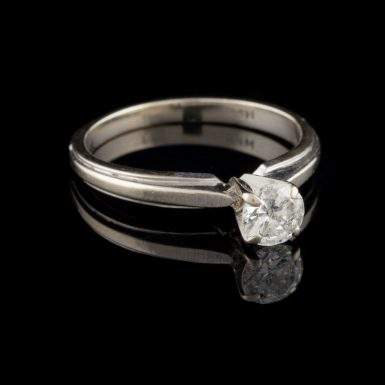 Pre-Owned 10K One Third Carat Diamond Solitaire Ring