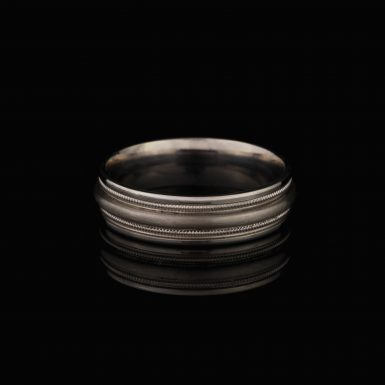 Sterling Silver Brushed and Polished Fancy Band