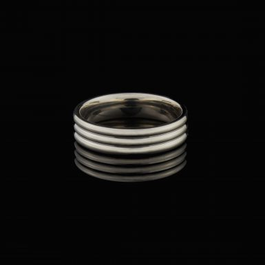 Sterling Silver Polished 6mm Fancy Band