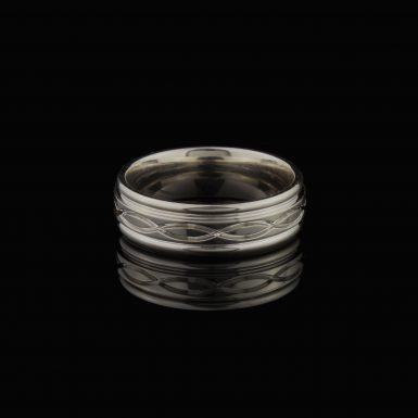 Sterling Silver Polished 7mm Fancy Band