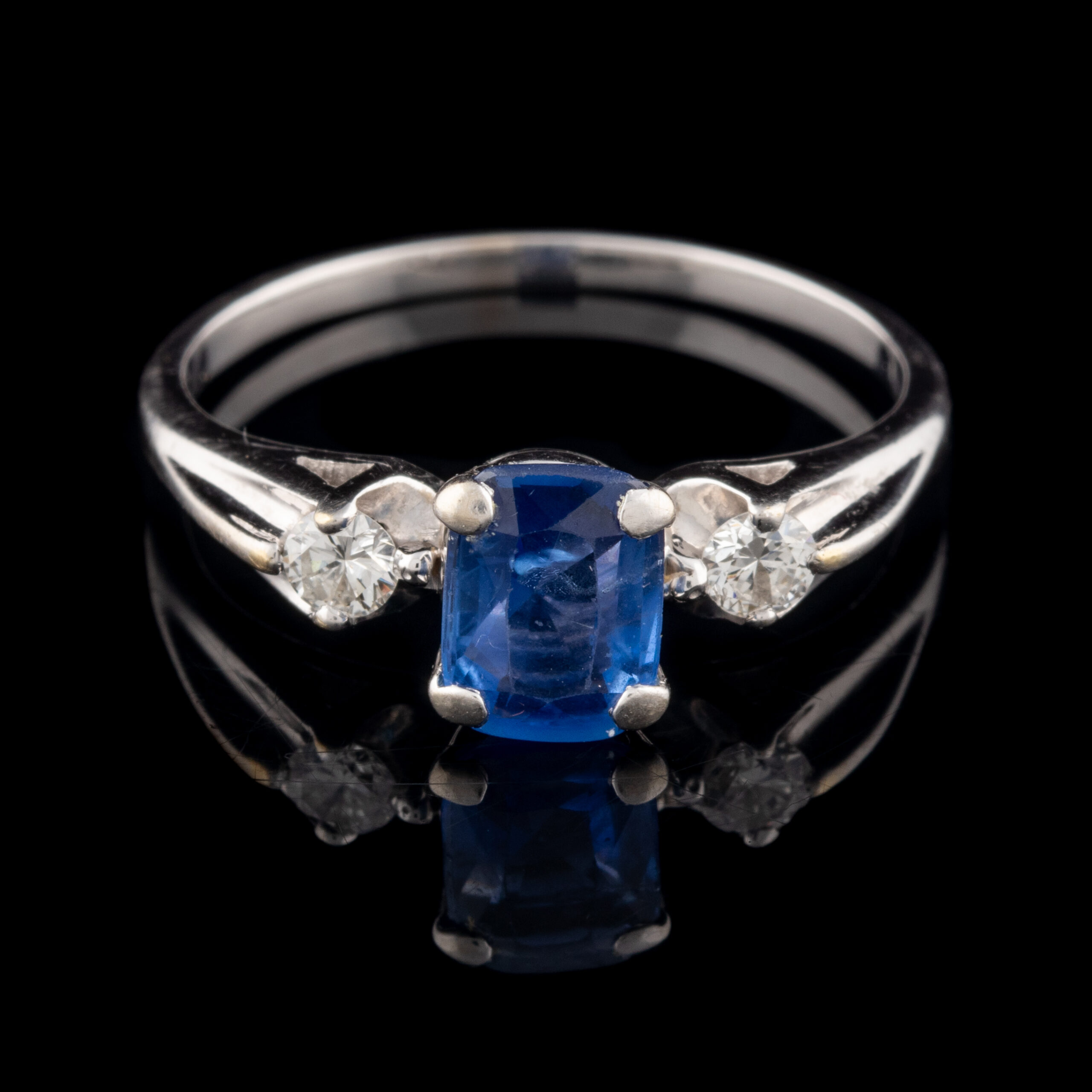 Pre-Owned 14K Sapphire and Diamond Ring