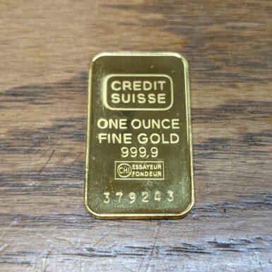 1OZ CREDIT SUISSE GOLD BAR