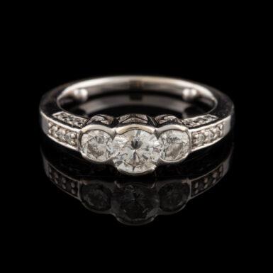 Pre-Owned 14K Semi-Bezel Set 3 Diamond Ring