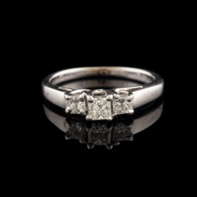 Pre-Owned 14K Trellis Style 3- Diamond Ring